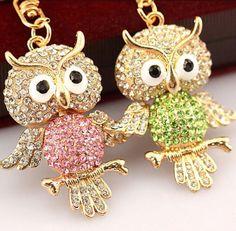 1pcs-Rhinestone-Owl-Keychains-Keyring-Fashion-Animal-Metal-Crystal-Key-Chains