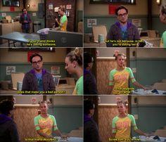 The Big Bang Theory Quotes Leonard and Penny. Vintage Funny Quotes, Cute Funny Quotes, Funny Love, Big Bang Theory Quotes, Big Bang Theory Funny, Leonard And Penny, Funny Sms, Funny Video Clips, Sometimes I Wonder
