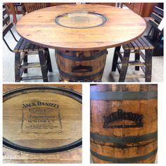 Jack Danielu0027s Reclaimed Pub Table. Made From Reclaimed Jack Danielu0027s  Whiskey Barrels.