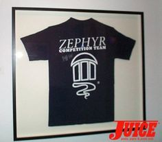 The Zephyr Competition Team Shirt autographed by Jeff Ho. Photo: Terri Craft