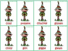 Crazy Speech World: Elfie Synonyms Freebie-cute for Christmas! Pinned by SOS Inc. Resources.  Follow all our boards at http://pinterest.com/sostherapy  for therapy resources.