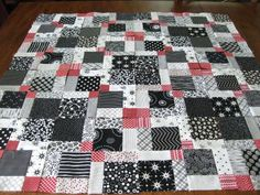 disappearing 9 patch quilt tutorial  bitty bits & pieces: Kisses for Cade