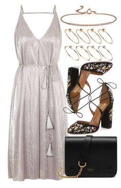 """Untitled #5412"" by rachellouisewilliamson ❤ liked on Polyvore featuring Topshop, Aquazzura, Mulberry, ASOS and Blue Nile"