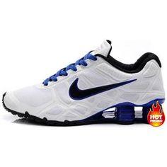 http://www.asneakers4u.com Nike Shox -Turbo12 Men White Blue Black