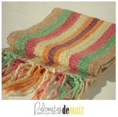 Caminos de Mesa en Telar Silk Ribbon Embroidery, Loom Weaving, Projects To Try, Lily, Textiles, Blanket, Rugs, Knitting, Crafts