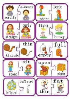 Opposites puzzle Game Part 2 worksheet - Free ESL printable worksheets made by teachers