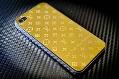 Gold Louis V iPhone Backplate