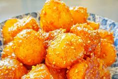 Korean sweet and spicy sesame potatoes   Lets just be honest, it should come as no surprise that I would come up with a recipe for yet ano...