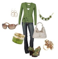 """St. Patrick's Day of Green"" by staceedawn ❤ liked on Polyvore featuring 7 For All Mankind, Laura Ashley, Seychelles, Splendid and J.Crew"
