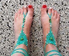 Top De 13 beste afbeelding van blote voet sandalen - Crochet sandals @BI11