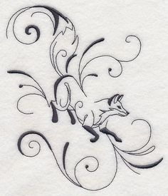 Inky Fox Running design (L8737) from www.Emblibrary.com