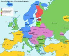 What Germany is called in different European languages