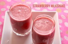 Strawberry milkshake recipe.. a delicious and refreshing beverage made with strawberries.. #beverages #strawberry #recipes  http://charuscuisine.com/strawberry-milkshake-recipe-how-to-make-strawberry-milkshake-recipe/