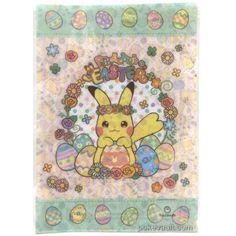Pokemon Center 2017 Easter Campaign Pikachu A4 Size Clear File Folder