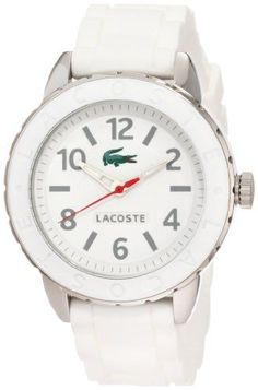 Lacoste Womens Rio Rubber Band Watch 2000689 White Watch * For more information, visit image link.