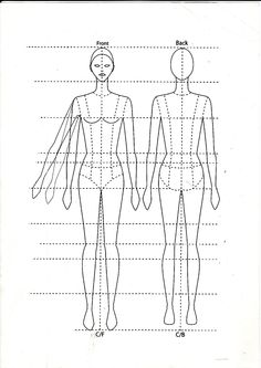 basic fashion template figure