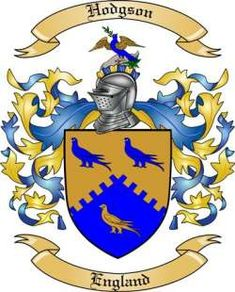 HODGSON (North Cumbria) - Using this particular COA for the surname only.