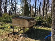 New nesting box, side doors for cleaning, and side paneling. Box Building, Nesting Boxes, Side Door, Cinder, Chickens Backyard, Coops, Outdoor Decor, Cleaning, Album