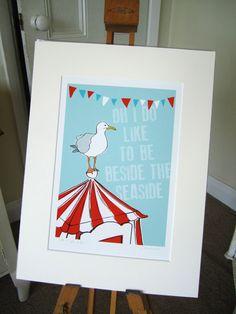 Beside the Seaside A4 art print £15.00