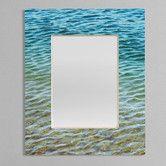 Found it at Wayfair - Shannon Clark Ombre Sea Rectangular Mirror