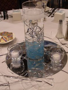 Prom centerpiece - Davians Banquet & Conference Center.