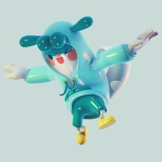 BUGABOO FRIENDS on Behance Character Modeling, 3d Character, Love Illustration, Character Illustration, Cute Kawaii Animals, 3d Figures, Mascot Design, 3d Artwork, Lego Projects