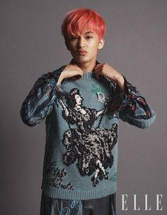 Mark Lee, Watermelon Guy, Nct Dream Members, Lee Min Hyung, Blackpink Memes, Lee Soo, Elle Magazine, Good Looking Men, Taeyong