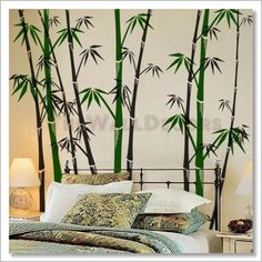 """wall decals"" bamboo 