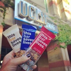 Venice, CA, thisbarsaveslives.com  Buy a bar, feed a child. For every one of our gluten free, non-GMO snack bars you buy, we give a packet of life-saving food to a child in need.