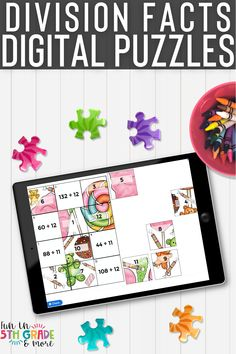 These digital puzzles are a fun way to practice division facts. No prep, self checking digital puzzles that are sure to have your students mastering their division fluency facts. Works on any device with internet connection. Perfect to use in the classroom or for distance learning. Math Fact Practice, Math Websites, Math Strategies, Early Finishers, Free Math, Math Facts, Help Teaching, Elementary Math, Math Classroom