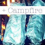 Campurritos: Recipe for pre-made breakfast burritos that are wrapped in foil then thrown on the fire to cook.