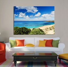 Large Wall Art Canvas Wild Cove in Cloudy Weather