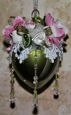 Tremendous Eudora Handmade Beaded Victorian Ornament Now Here39S An Idea For Easy Diy Christmas Decorations Tissureus