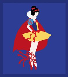 Illustrations of Disney Princesses as Ballerinas