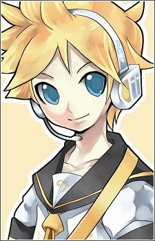 Len Kagamine (鏡音レン) First appearance in Chapter 2. Aged 14, Len is twins with his sister, Kagamine Rin. They can be protrayed either as twins or reflections of a mirror depending on the person viewing them or the song (it is not officially stated).  As a character from the second installment of Crypton's Vocaloid Character Voice Series, he is voiced by Asami Shimoda.