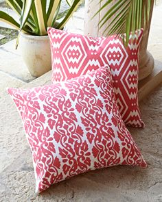 John Robshaw Cool Graphics Outdoor Pillows