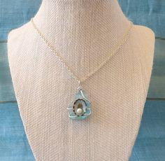 Beautiful Wire Wrapped Aqua Sea Glass by TheGreenEyedTurtle, $20.00