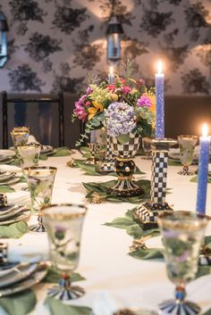 We ended the day with the most lovely dinner at a table set for royalty!