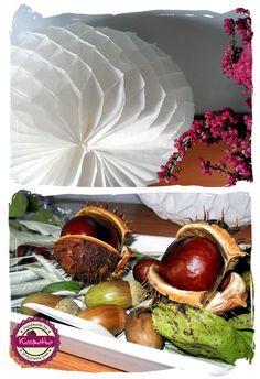 #jesienna aranżacja, #kasztany, #plaster miodu,