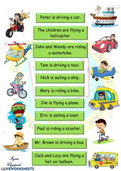 Means of transport interactive and downloadable worksheet. You can do the exercises online or download the worksheet as pdf.
