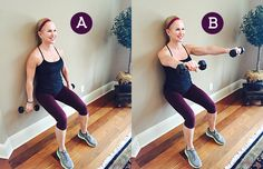 Try this Wall Workout for a great workout without leaving home!  These simple exercises help tone and tighten the areas we all want to work (butt, belly, legs, and triceps) no matter where you are or how crazy-busy your day!