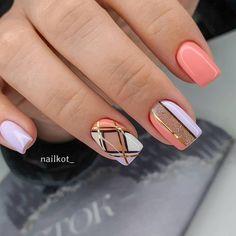 Silver Nail Designs, Pretty Nail Designs, Nail Art Designs, Toe Nails, Pink Nails, Classy Nail Art, Semi Permanente, Manicure E Pedicure, Perfect Nails