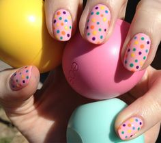 Polka dots nails AND my favorite Chapstick