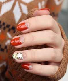this sienna nail polish is already working wonders when mixed with a half moon designs