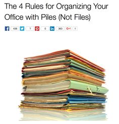 The 4 Rules for Organizing Your Office with Piles (Not Files)