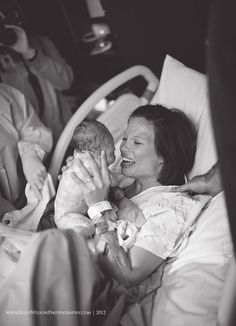 Birth Photogrpahy captures an emotion that is truly amazing when a mother meets her baby for the first time.    There are no words do the emotion in this photo justice - pure love. | Kelly Wilson Photography #birth photo