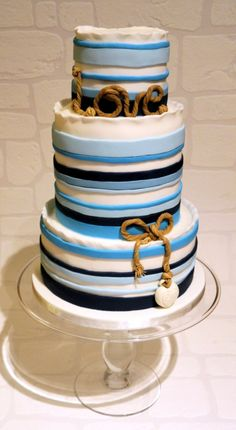 Image result for nautical birthday cake