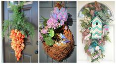 Úžasné nápady, ako si vyzdobiť dvere na jarné mesiace. Tento rok nemusíte mať len klasický veniec, tieto nápady vás určite uchvátia. Grapevine Wreath, Grape Vines, Nutella, Ladder Decor, Wreaths, Home Decor, Door Wreaths, Deco Mesh Wreaths, Interior Design