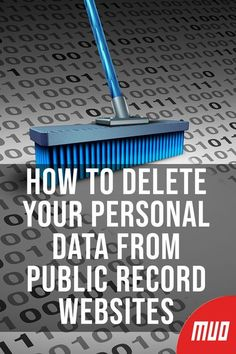 How to Delete Your Personal Data From Public Record Websites --- Directory listing websites can hold Computer Shortcut Keys, Computer Basics, Computer Help, Computer Internet, Computer Security, Computer Tips, Wireless Security, Security Alarm, Security Camera