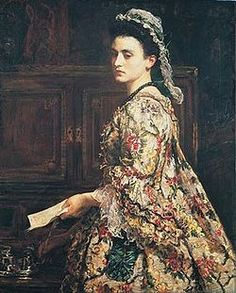 Vanessa (1868) is a painting by John Everett Millais in Sudley House, Liverpool. It is a fancy portrait depicting Jonathan Swift's correspondent Esther Vanhomrigh (1688-1723), who was known by that pseudonym.[1]  Vanessa represents a major departure in Millais's art because he abandons fully for the first time the detailed finish that was still to be seen in Waking and Sleeping, exhibited in the previous year. Influenced by the work of Diego Velázquez and Joshua Reynolds,